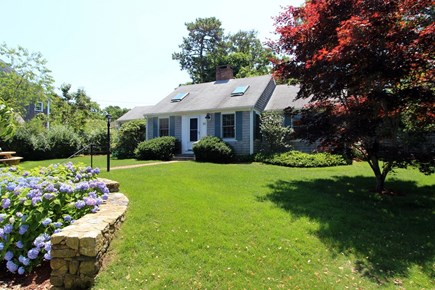 Brewster Cape Cod vacation rental - Lots of level yard where kids can play safely