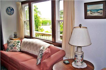 East Orleans Cape Cod vacation rental - Sunny living room with large windows & ocean view