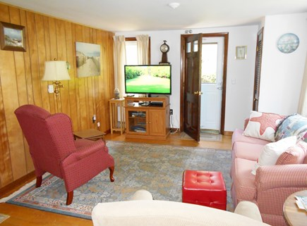East Orleans Cape Cod vacation rental - Recliner chairs and flatscreen TV with cable