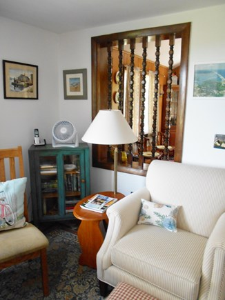 East Orleans Cape Cod vacation rental - Reading corner, Cape Cod histories and novels, family game table