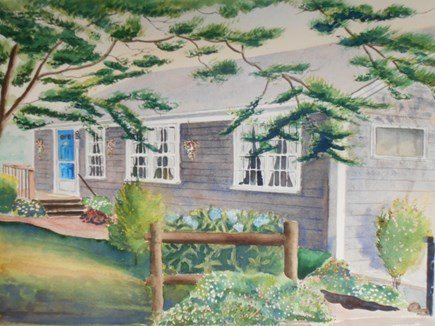 East Orleans Cape Cod vacation rental - Watercolor of The Quarterdeck