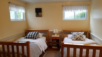 Dennis Port Cape Cod vacation rental - Second bedroom downstairs with two single beds