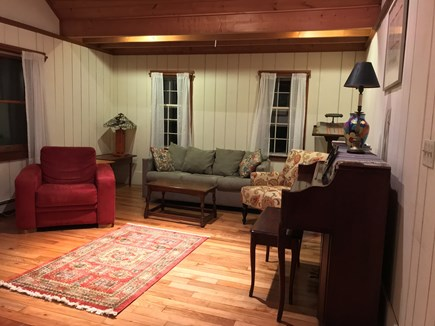 Orleans Cape Cod vacation rental - Living room with fireplace
