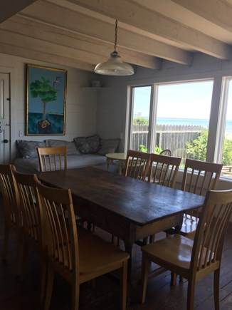 Provincetown Cape Cod vacation rental - Dinning area with expansive water views