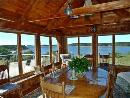 Wellfleet Cape Cod vacation rental - Sitting / Dining Area with Bay  View