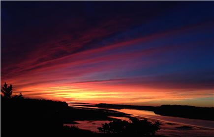 Wellfleet Cape Cod vacation rental - Striking sunset from main living area