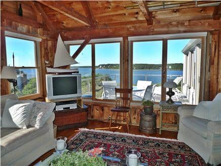 Wellfleet Cape Cod vacation rental - Living  Room with Bay View