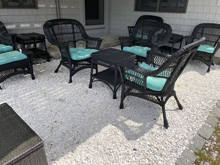 Wellfleet Cape Cod vacation rental - Additional ground level sitting area overlooking the water views