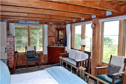 Wellfleet Cape Cod vacation rental - Master Bedroom facing amazing water views