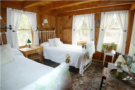 Wellfleet Cape Cod vacation rental - Pair of Twin Iron Beds (each oversized)