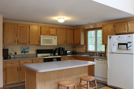Wellfleet Cape Cod vacation rental - Open-airy kitchen & cathedral ceiling dining room