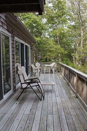Wellfleet Cape Cod vacation rental - Relaxing outside deck, overlooking the inlet marsh