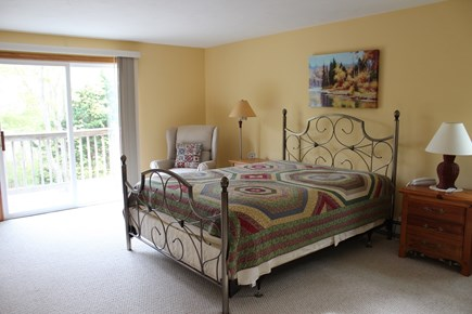 Wellfleet Cape Cod vacation rental - Spacious master bedroom with an outdoor balcony