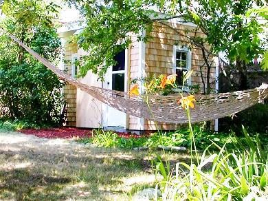 Dennis Port Cape Cod vacation rental - Lg. Backyard w/ hammock, swing and  out building