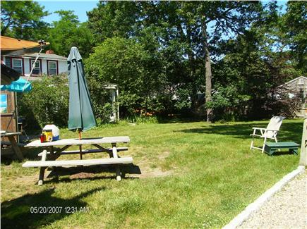 Dennis Port Cape Cod vacation rental - Backyard from driveway