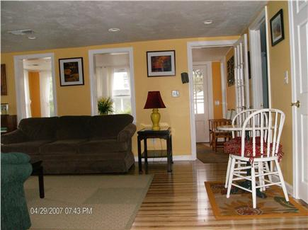 Dennis Port Cape Cod vacation rental - Open layout from kitchen  to Living room to sun/ front porch