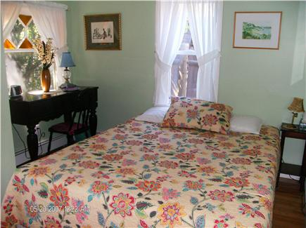Dennis Port Cape Cod vacation rental - First Floor Bedroom w/ Stained Glass window