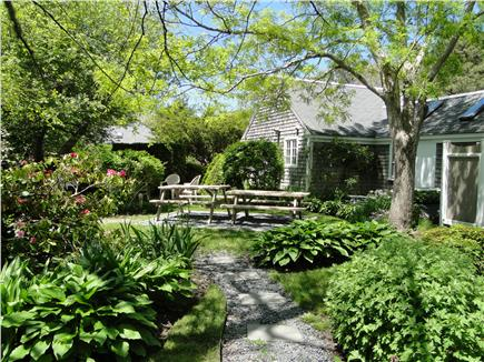 Chatham Cape Cod vacation rental - Sunroom entrance to garden picnic area