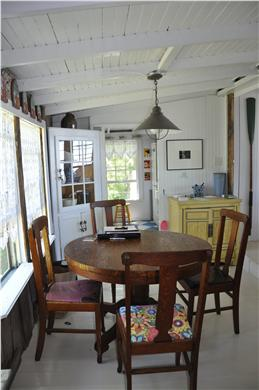 North Eastham Cape Cod vacation rental - Dining room seats four to 6 people.