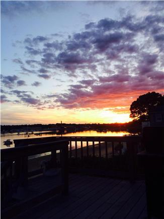 Wareham MA vacation rental - Southwesterly Sunsets off our deck