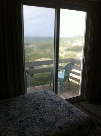 East Sandwich Cape Cod vacation rental - Ocean view from upstairs balcony in second twin bedroom.