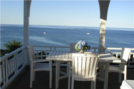 Sagamore Beach, Bourne Sagamore Beach vacation rental - Dining on ocean porch!