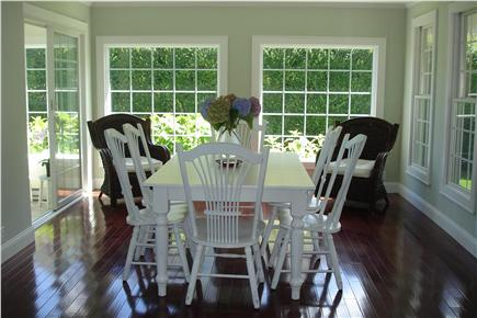 Sagamore Beach, Bourne Sagamore Beach vacation rental - Lovely, spacious dining room with antique white Canadian table.