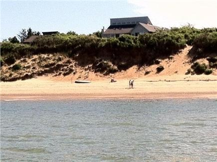 Eastham Cape Cod vacation rental - View of the home and beach from the Bay