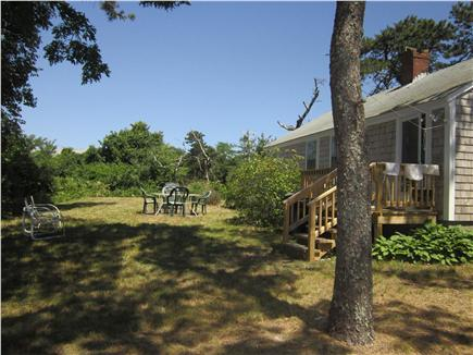 Dennis Port Cape Cod vacation rental - Sunny Private Yard with Table and Grill