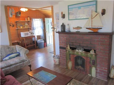 Dennis Port Cape Cod vacation rental - Living Room Opens up to Dining Area