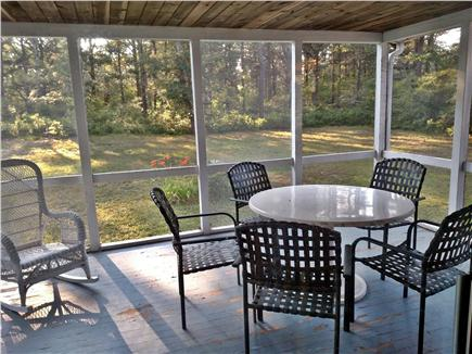 South Chatham Cape Cod vacation rental - Private Screen Porch adjacent to kitchen and backyard