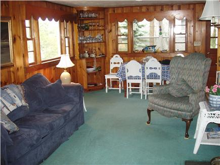 Ellisville MA vacation rental - Cottage Interior - Living Room, Dining area