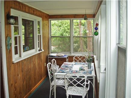 Ellisville MA vacation rental - Glass/Screen Porch with extra Dining area