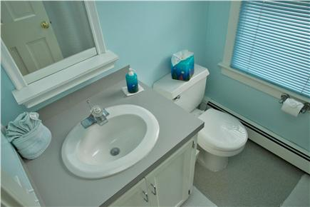 Barnstable Cape Cod vacation rental - Master bath with shower.  The shower is opposite the vanity.