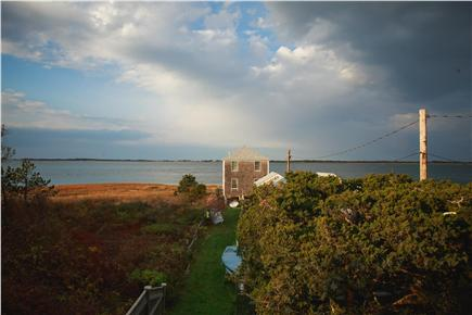 Barnstable Cape Cod vacation rental - Walk a few steps (30 seconds) along grass to reach private beach.