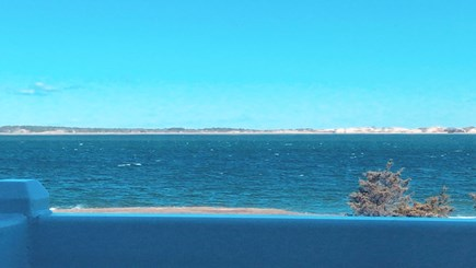 Barnstable Cape Cod vacation rental - A view from the upper balcony looking at the ocean.