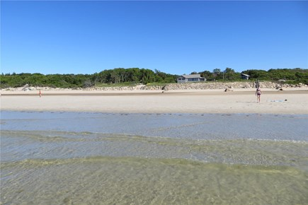 Barnstable Cape Cod vacation rental - View of Mill Way beach from the water.