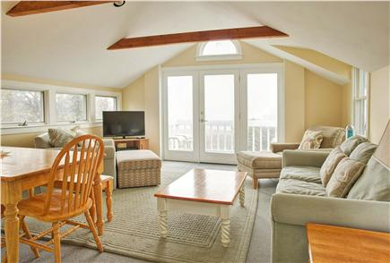 Barnstable Cape Cod vacation rental - Relax in the living room while enjoying the view & ocean breezes.