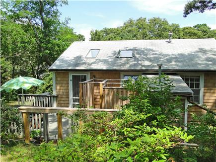 North Eastham Cape Cod vacation rental - Lovely back deck with sitting area, outdoor shower
