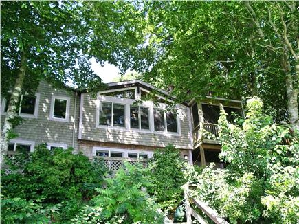 Mashpee Cape Cod vacation rental - From the Dock Looking Up 2 Full Floors Hidden by Landscaping
