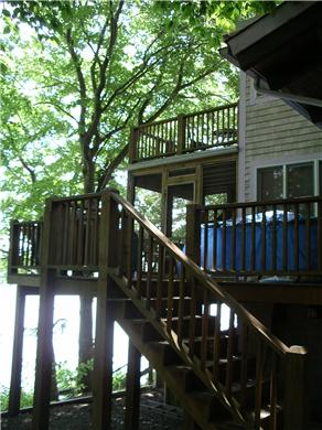Mashpee Cape Cod vacation rental - Three levels of decks & a 10 x 10 screened in porch
