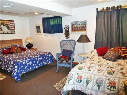 Mashpee Cape Cod vacation rental - Bdrm 4 queen & double/5 Library, double not shown, no windows