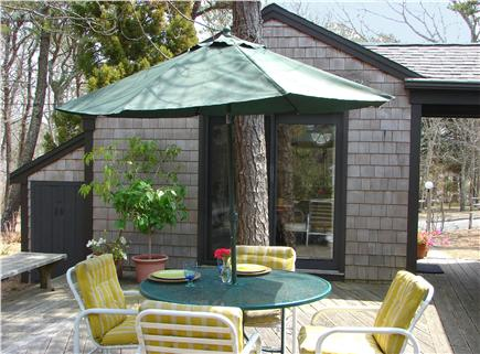 South Harwich Cape Cod vacation rental - A view of the Studio from the deck - perfect for drinks and meals