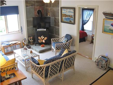 West Yarmouth Cape Cod vacation rental - Comfy, Nautical themed LR, w/39'' TV w/DVD/VCR
