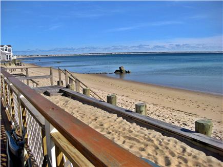 Provincetown Cape Cod vacation rental - View of seawall containing small upper beach, and beach below
