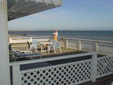 Provincetown Cape Cod vacation rental - That's me on the bayside deck.