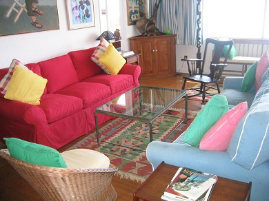 Provincetown Cape Cod vacation rental - Living Room with view of the bay