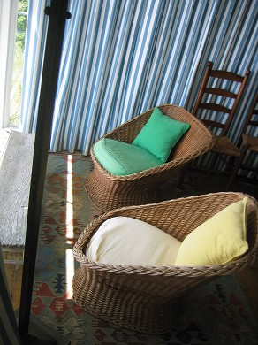 Provincetown Cape Cod vacation rental - Quiet nook with view of the bay.