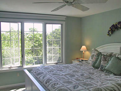 Brewster Cape Cod vacation rental - Upstairs King bedroom - lake view