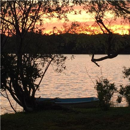 West Dennis Cape Cod vacation rental - Enjoy beautiful sunsets from the swing or deck
